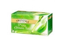 TE TWININGS X25 PURE GREEN TEA