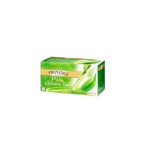 TE TWININGS X25 PURE GREEN TEA